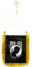 POW MIA Hanging Car Flag Pennant